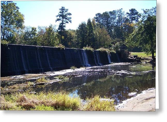 Starrs Mill Waterfall  Greeting Card by Jake Hartz