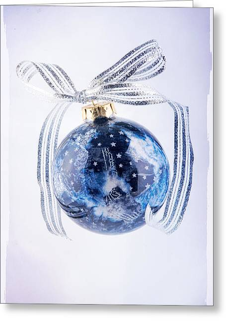 Christmas Ornament With Stars Greeting Card by Vizual Studio