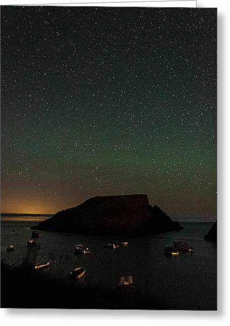 Starry Island Greeting Card