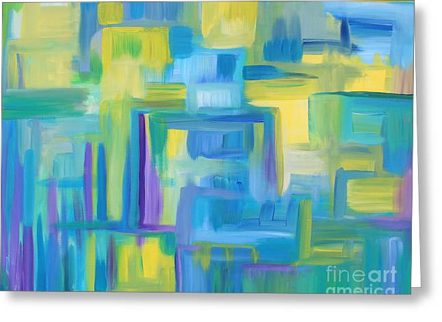 Starry Night Abstract Greeting Card