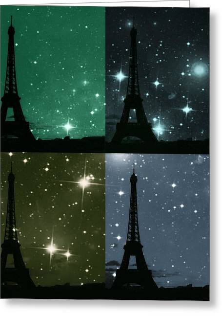 Starry Night - Eiifel Tower Paris Greeting Card