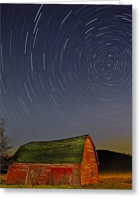 Starry Night Greeting Card by Susan Candelario