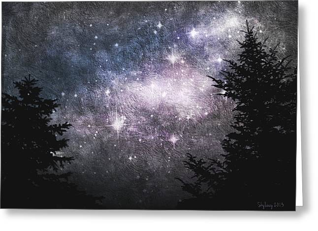 Greeting Card featuring the photograph Starry Starry Night by Cynthia Lassiter