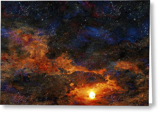Starry Sunset Greeting Card by Bruce Rolff
