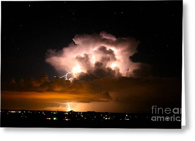 Starry Thundercloud Greeting Card