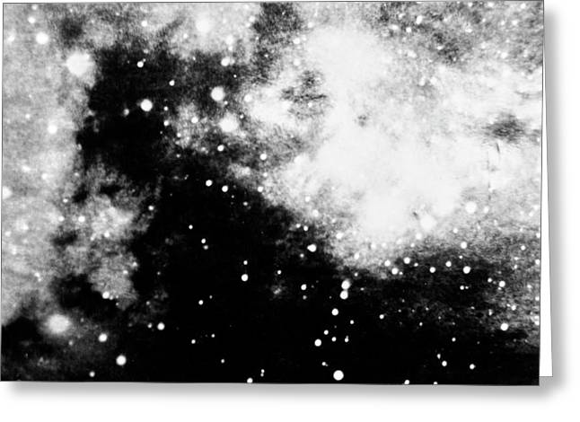Stars And Cloud-like Forms In A Night Sky Greeting Card