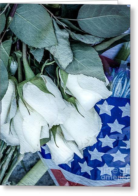 Stars And Roses Forever Greeting Card by Susan Cole Kelly Impressions