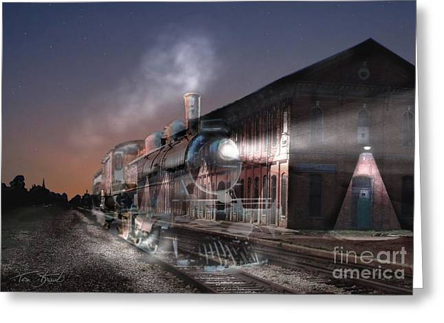 Stars And Station 2010 Greeting Card by Tom Straub