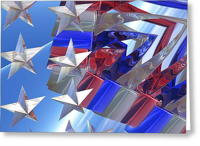Stars And Stripes 2 Greeting Card