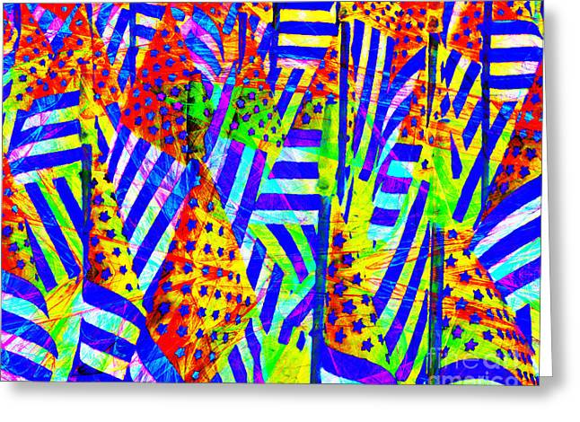 Stars And Stripes 20140821 V2 Horizontal Greeting Card