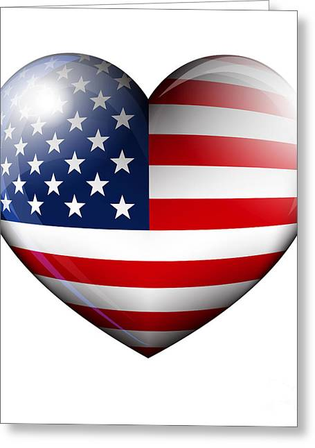 Stars And Stripes Greeting Card by Fenton Wylam