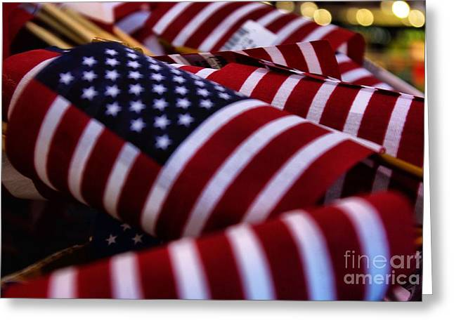 Greeting Card featuring the photograph Stars And Stripes by John S