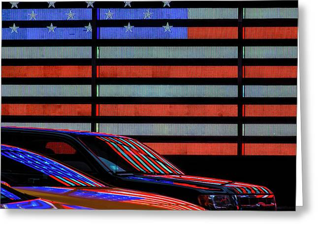 Stars And Stripes Reflected Greeting Card