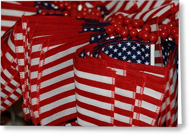 Stars And Stripes Greeting Card by Rob Hans