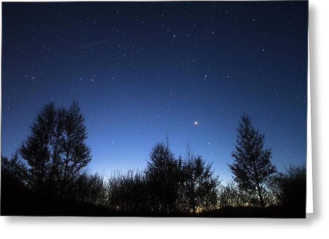 Stars Corona Borealis And Arcturus Greeting Card by Jeff Dai