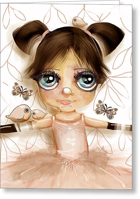 Stars In Her Eyes Greeting Card by Karin Taylor