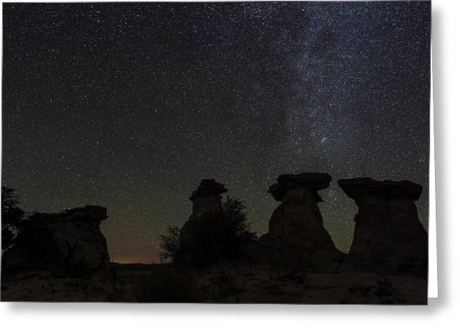 Stars In The Sky At Night, Canyons Greeting Card by Panoramic Images