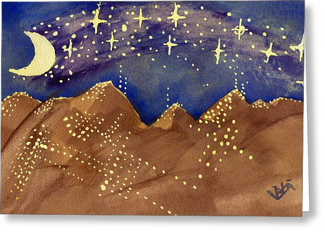 Stars Of Heaven And Earth Greeting Card