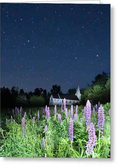 Stars Of St Mathews Greeting Card by Andrea Galiffi