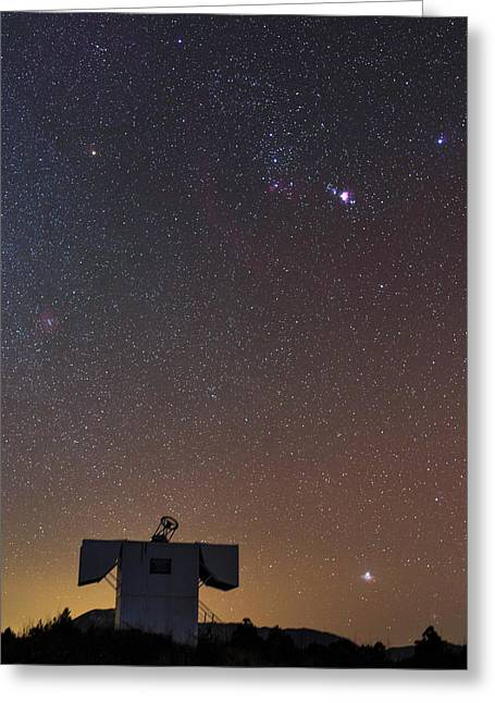 Stars Of The Constellation Orion Greeting Card by Jeff Dai