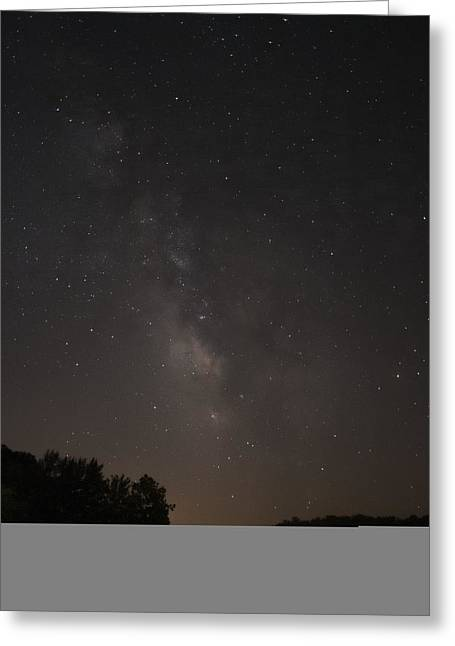 Stars On Lake Logan Greeting Card