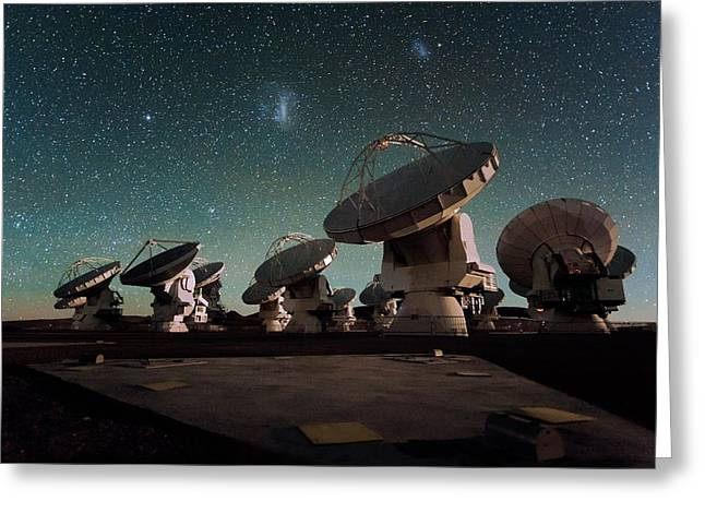 Stars Over Alma Greeting Card by Eso/c. Malin