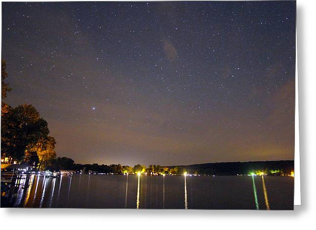 Stars Over Conesus Greeting Card