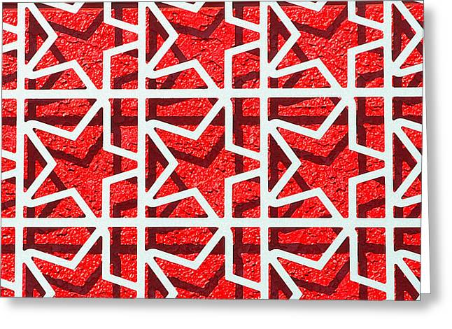 Stars With Shadows Greeting Card by Art Block Collections