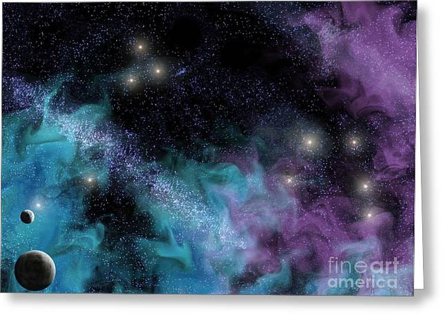 Starscape Nebula Greeting Card by Antony McAulay