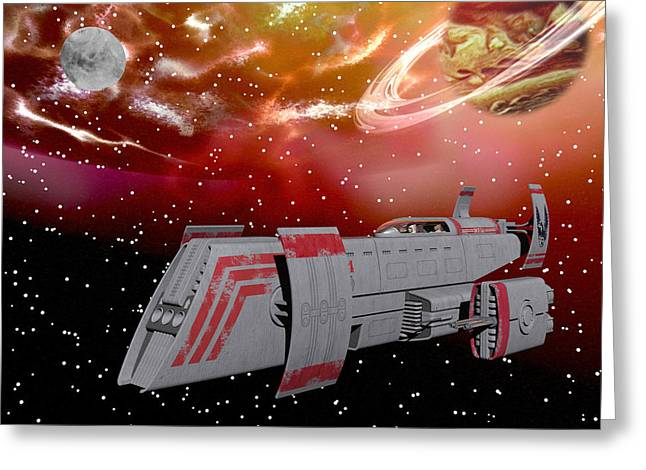 Starship Wonder Greeting Card by Michele Wilson