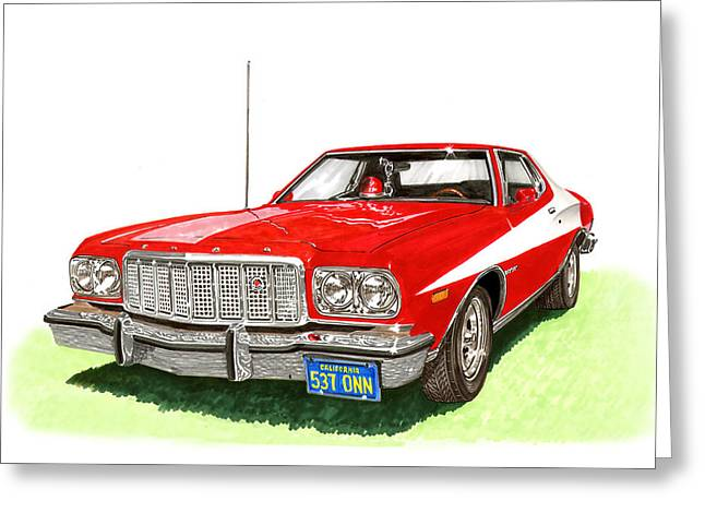Starsky Hutch 1974 Ford Gran Torino Sport Greeting Card by Jack Pumphrey