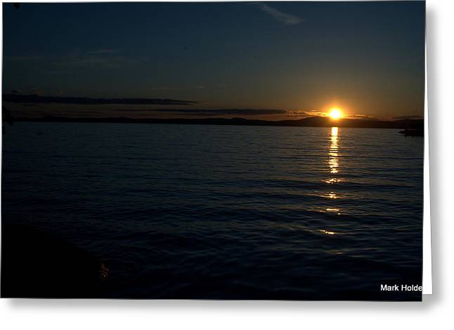 Start To A Brand New Day Greeting Card by Mark Holden