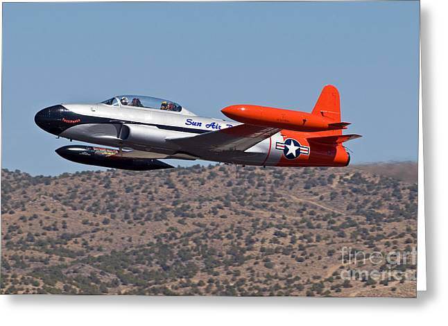 Starter Plane- T33 Greeting Card by Steve Rowland