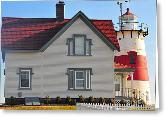 Startford Point Light 3 Greeting Card by Catherine Reusch Daley
