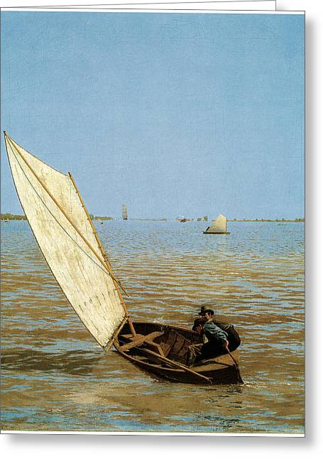 Starting Out After Rail Greeting Card by Thomas Eakins