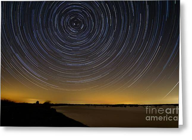 Startrails 3 Greeting Card by Benjamin Reed