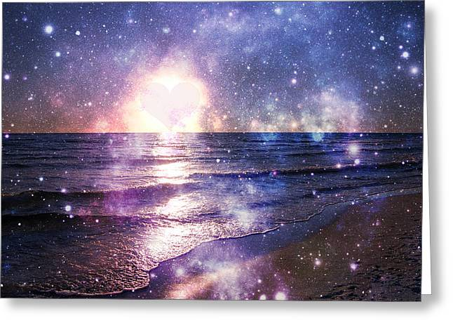 Stary Heart Beach Greeting Card by May Photography