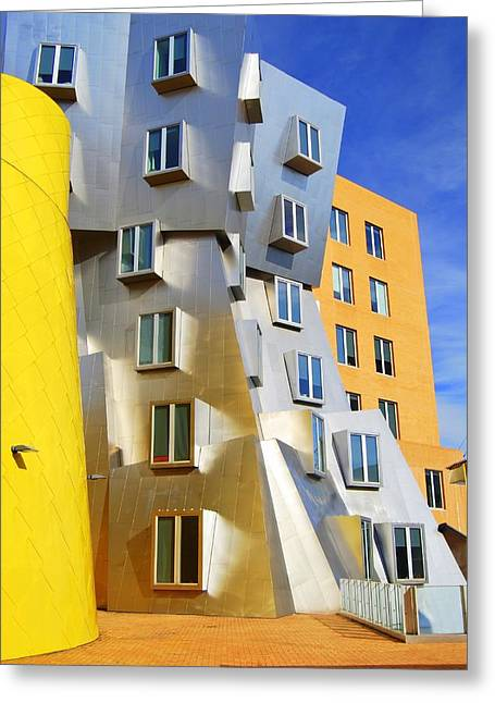 Greeting Card featuring the photograph Stata Building At M I T by Caroline Stella