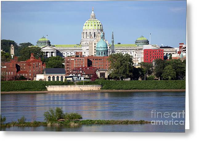 State Capitol Building Harrisburg Pennsylvania Greeting Card by Bill Cobb