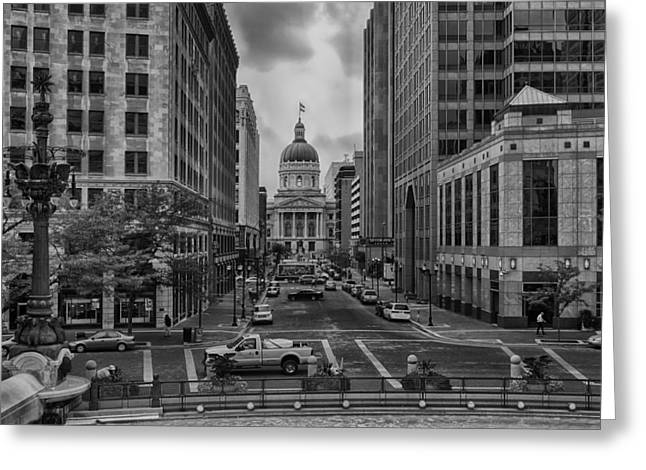 Greeting Card featuring the photograph State Capitol Building by Howard Salmon
