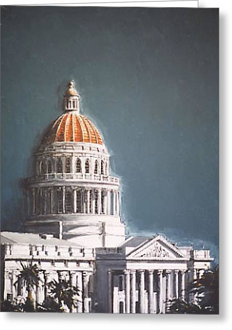 State Capitol Greeting Card by Paul Guyer