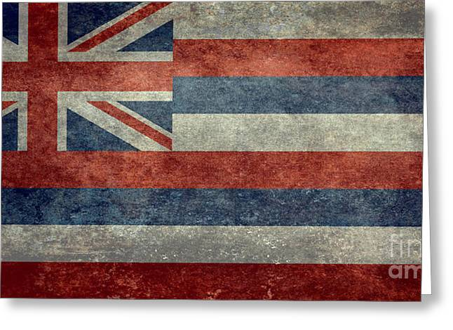 State Flag Of Hawaii Vintage Version Greeting Card