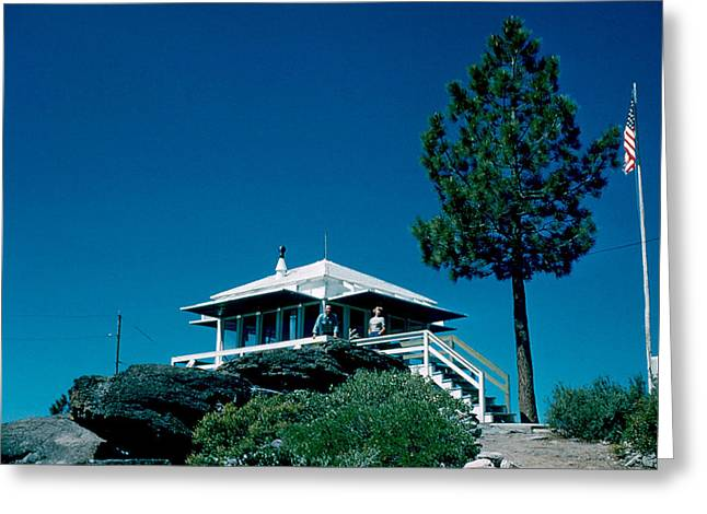 State Line Lookout 1956 2 Greeting Card by Cumberland Warden
