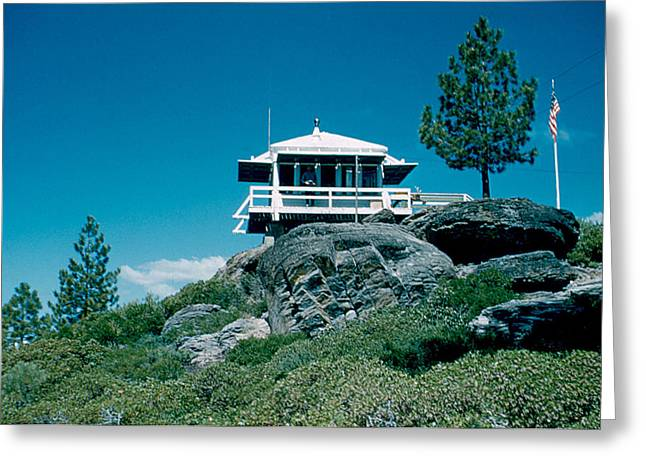 State Line Lookout 1956 3 Greeting Card by Cumberland Warden