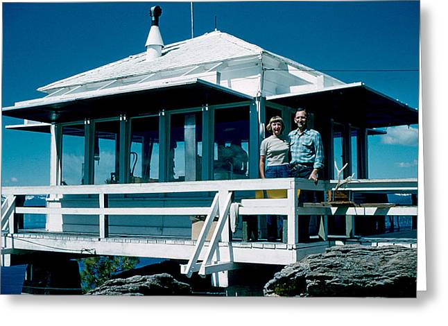 State Line Lookout 1956 Greeting Card by Cumberland Warden