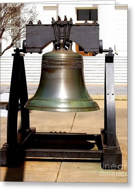 State Of Alabama Capitol Building Liberty Bell Greeting Card