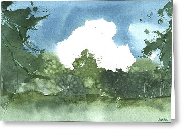 Greeting Card featuring the painting State Park Plein Air 7-20-13 by Sean Seal