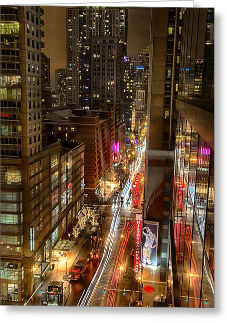 State Street - Chicago - 12-14-13 Greeting Card