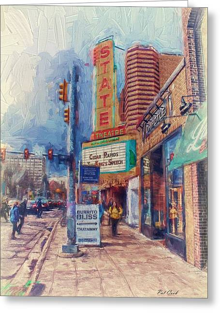 State Street Impasto Greeting Card by Pat Cook