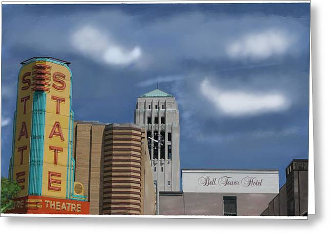 State Theater Greeting Card by C A Soto Aguirre